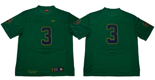 Fighting Irish #3 Joe Montana Green Limited Stitched NCAA Jersey