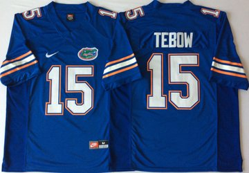Florida Gators 15 Tim Tebow Blue College Football Jersey