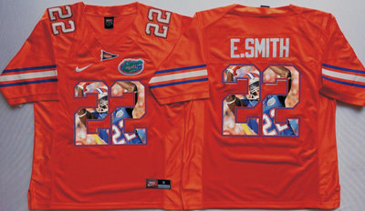 Florida Gators 22 Emmitt Smith Orange Portrait Number College Jersey