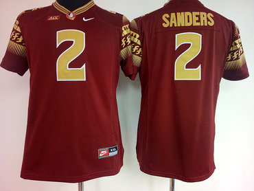 Florida State Seminoles 2 Deion Sanders Red College Football Jersey