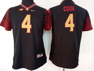 Florida State Seminoles 4 Dalvin Cook Black College Football Jersey