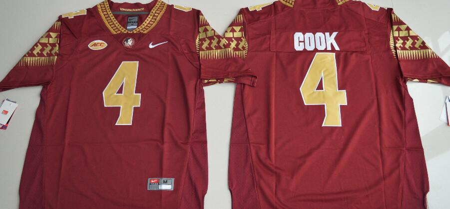Florida State Seminoles 4 Dalvin Cook Red College Football Jersey