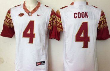 Florida State Seminoles 4 Dalvin Cook White College Football Jersey