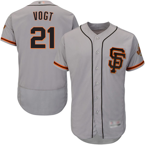 Giants #21 Stephen Vogt Grey Flexbase Authentic Collection Road 2 Stitched Baseball jerseys