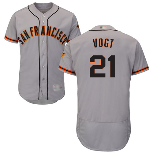 Giants #21 Stephen Vogt Grey Flexbase Authentic Collection Road Stitched Baseball Jersey