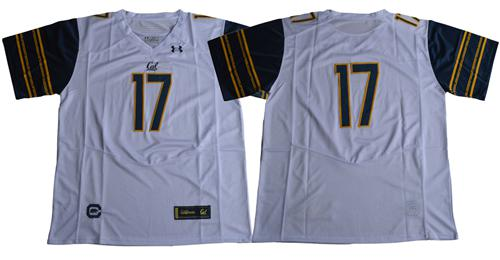 Golden Bears 2017 Fans White Under Armour Premier Stitched NCAA Jersey