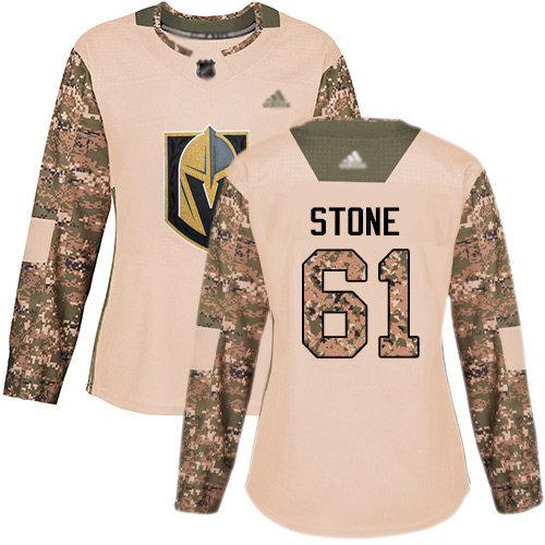 Golden Knights #61 Mark Stone Camo Authentic 2017 Veterans Day Women's Stitched Hockey Jersey