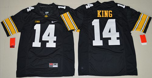 Hawkeyes #14 Desmond King Black Stitched NCAA Jersey