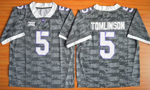 Horned Frogs #5 LaDainian Tomlinson Grey Stitched NCAA Jersey