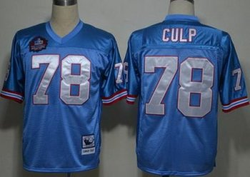 Houston Oilers 78 Curley Culp Light Blue M&N Hall of Fame Class NFL Jerseys