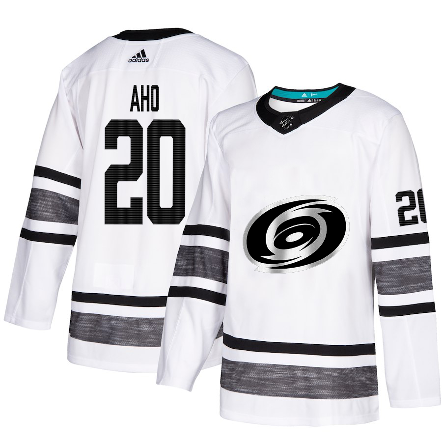 Hurricanes #20 Sebastian Aho White Authentic 2019 All-Star Stitched Hockey Jersey