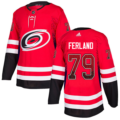 Hurricanes #79 Michael Ferland Red Home Authentic Drift Fashion Stitched Hockey Jersey