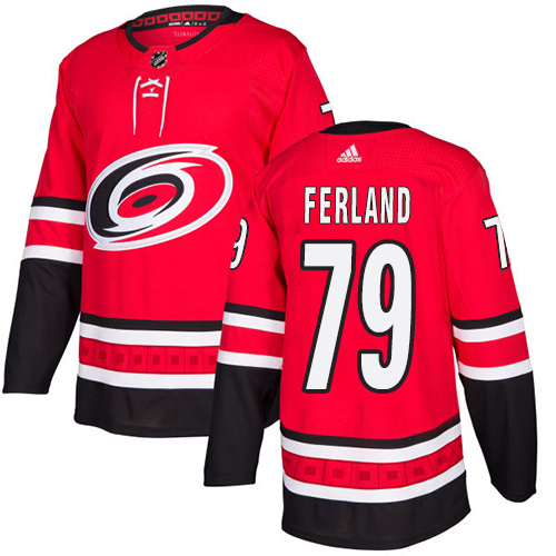 Hurricanes #79 Michael Ferland Red Home Authentic Stitched Hockey Jersey