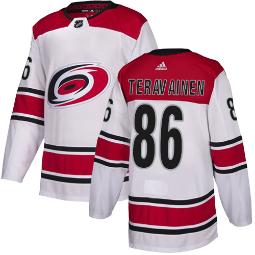 Hurricanes #86 Teuvo Teravainen White Road Authentic Stitched Hockey Jersey