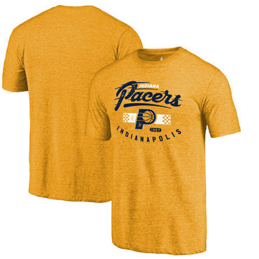 Indiana Pacers Fanatics Branded Gold Pace Car Hometown Collection Tri-Blend T-Shirt