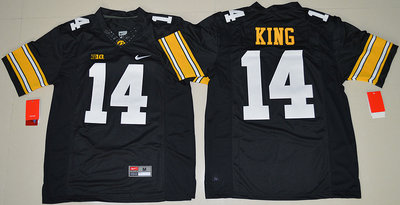 Iowa Hawkeyes 14 Desmond King Black College Football Jersey