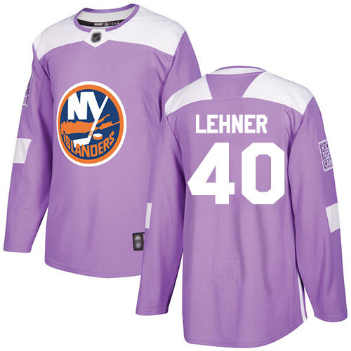 Islanders #40 Robin Lehner Purple Authentic Fights Cancer Stitched Hockey Jersey