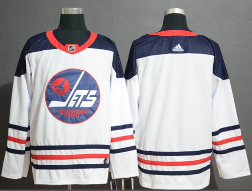Jets Blank White Authentic Heritage Stitched Hockey Jersey