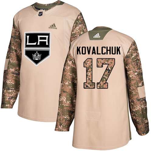Kings #17 Ilya Kovalchuk Camo Authentic 2017 Veterans Day Stitched Hockey Jersey