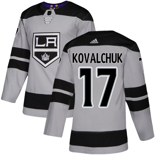 Kings #17 Ilya Kovalchuk Gray Alternate Authentic Stitched Hockey Jersey