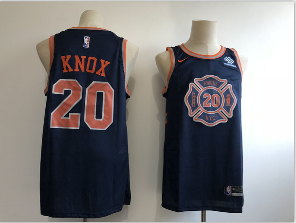 Knicks 20 Kevin Knox Navy 2018-19 City Edition Nike Swingman Jersey