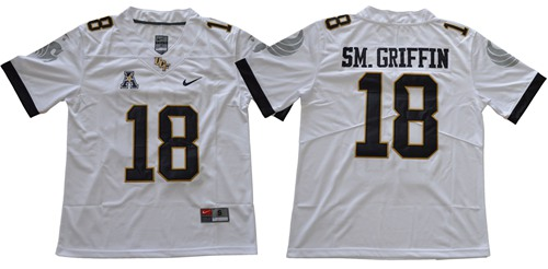 Knights #18 Shaquem Griffin White Limited Stitched NCAA Jersey