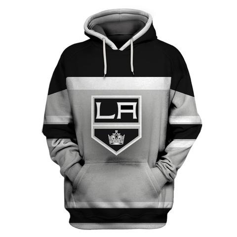 LA Kings Gray All Stitched Hooded Sweatshirt