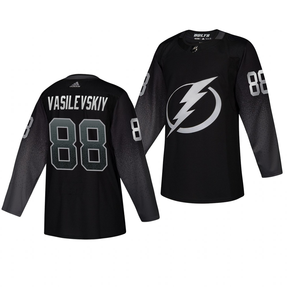 Lightning #88 Andrei Vasilevskiy Alternate Black Stitched Jersey