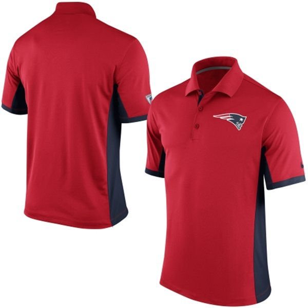 Men's New England Patriots Nike Red Team Issue Performance Polo