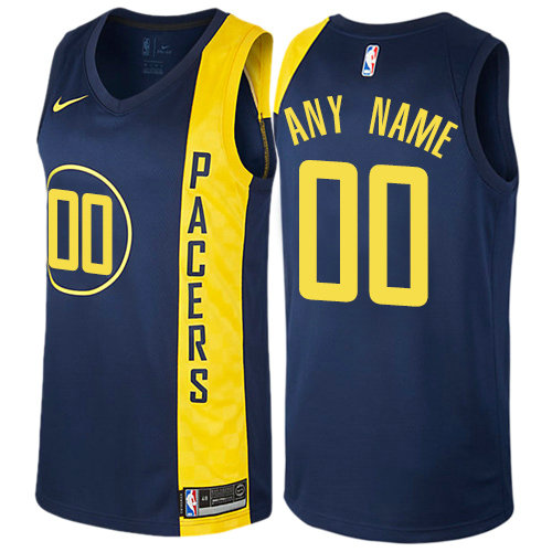 Men's Nike Indiana Pacers Customized Authentic Navy Blue NBA City Edition Jersey