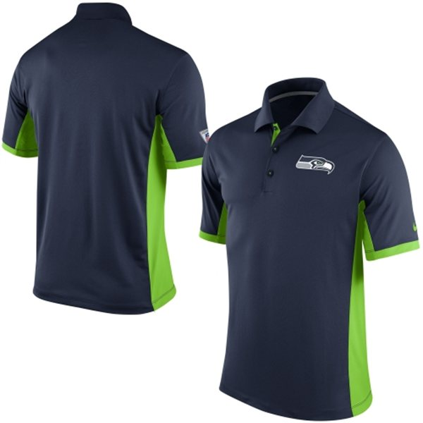 Men's Seattle Seahawks Nike College Navy Team Issue Performance Polo