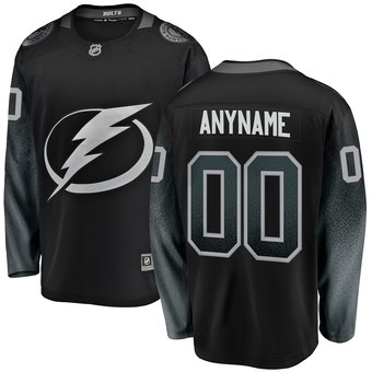 Men's Tampa Bay Lightning Fanatics Branded Black Alternate Breakaway Custom Jersey