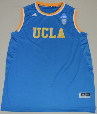 Mens Custom NUCLA Bruins College Basketball Blue Jersey