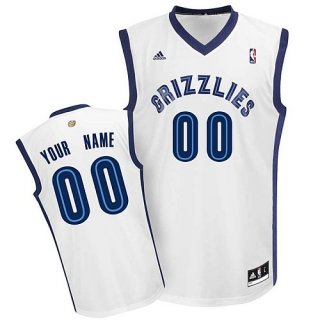 Mens Memphis Grizzlies Custom white Jersey