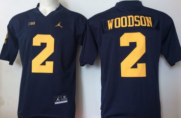 Michigan Wolverines 2 Charles Woodson Navy College Football Jersey