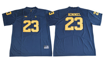 Michigan Wolverines 23 Tyree Kinnel Navy College Football Jersey