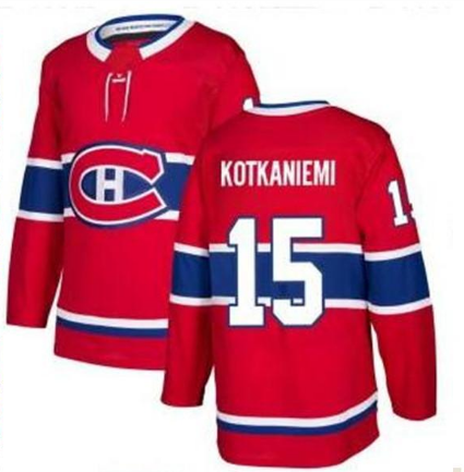 Montreal Canadiens #15 Jesperi Kotkaniemi Adidas red Away Authentic NHL Jersey