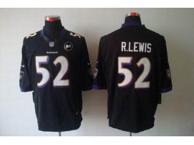 NEW Baltimore Ravens #52 Ray Lewis Black jerseys(Limited Art Patch)