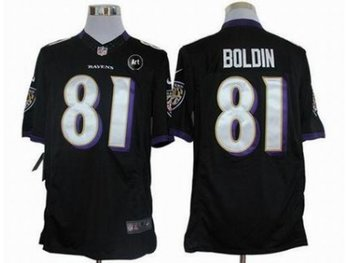 NEW Baltimore Ravens #81 Anquan Boldin black jerseys(Limited Art Patch)
