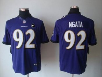 NEW Baltimore Ravens #92 Haloti Ngata Purple jerseys(Limited Art Patch)