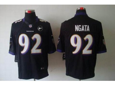 NEW Baltimore Ravens #92 Haloti Ngata black jerseys(Limited Art Patch)
