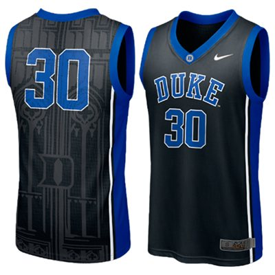 NEW Duke Blue Devils #30 Elite Aerographic Replica Basketball Jersey - Black
