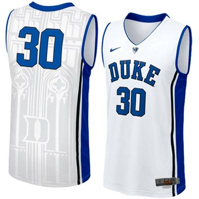 NEW Duke Blue Devils #30 Men's Swingman Aerographic Elite Basketball Jersey - White