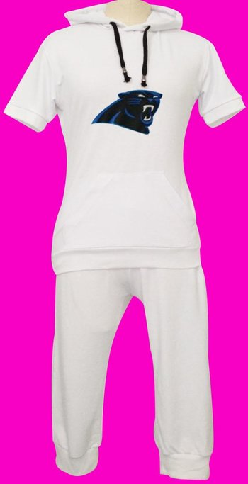 NFL Carolina Panthers women's Hooded sport suit White
