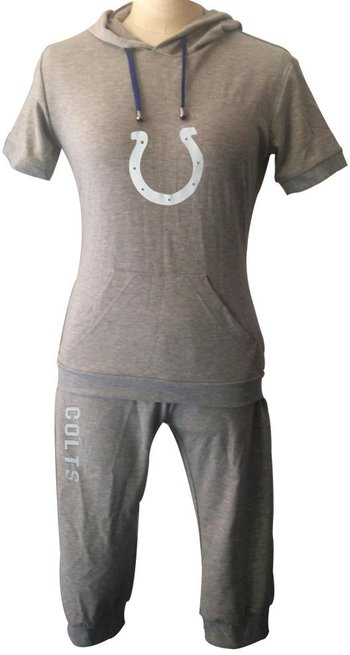 NFL Indianapolis Colts women's Hooded sport suit Grey