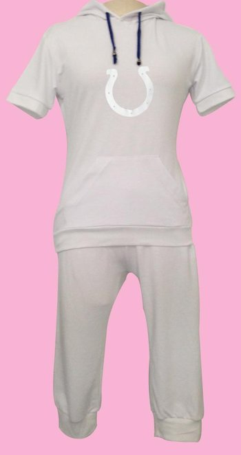 NFL Indianapolis Colts women's Hooded sport suit White