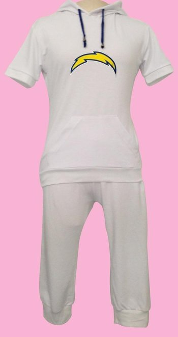 NFL San Diego Chargers women's Hooded sport suit White