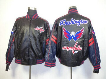 NHL Washington Capitals Leather Jacket