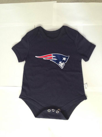 New England Patriots Infant Team Logo T-Shirt - Navy Blue