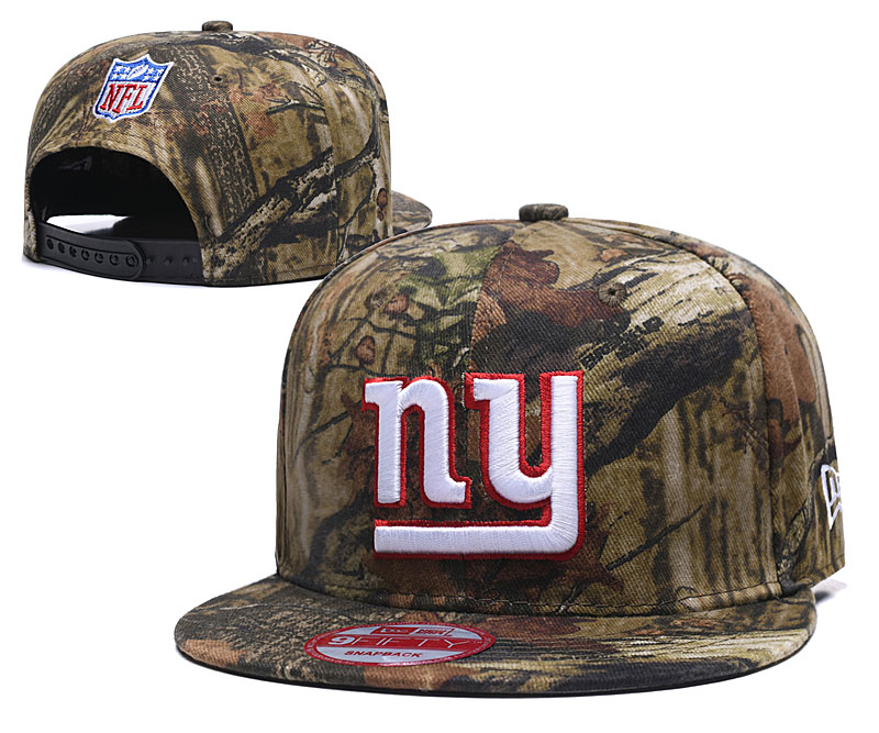 New York Giants Team Logo Camo Adjustable Hat LT